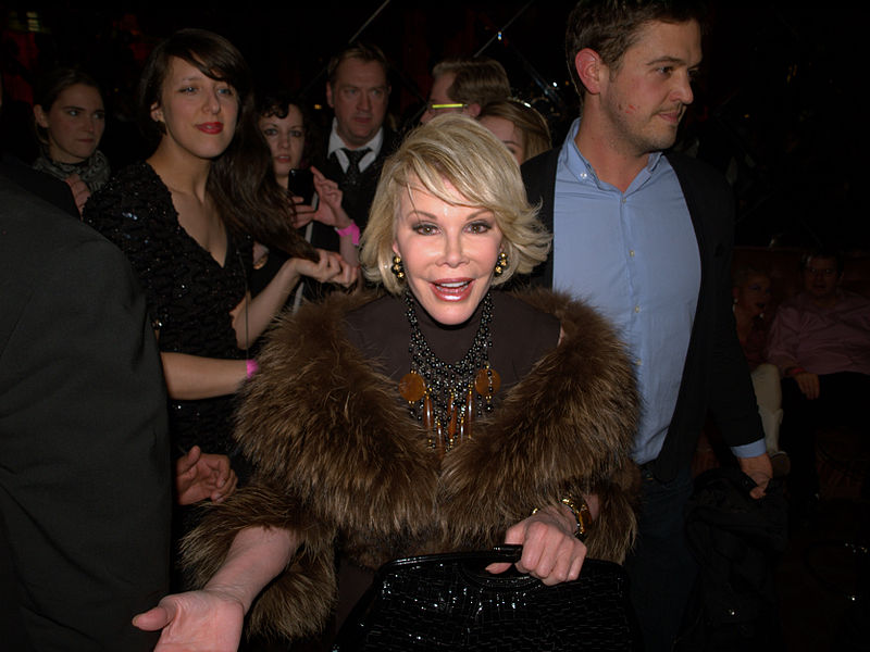 Joan Rivers, a legendary comedian and actress, died on Thursday at Mt. Sinai Hospital. She was 81. David Shankbone/Wikimedia Commons