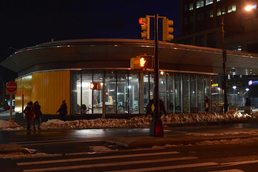 After a three year construction project, Fordham Plaza is almost complete. Andrea Garcia/The Fordham Ram