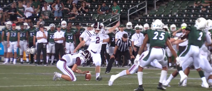 Sophomore kicker Andrew Meviss 32-yard field goal was the only Rams score of the second half. (Courtesy of Fordham Athletics)