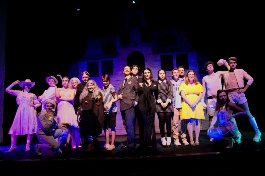 """The Mimes and Mummers' production of """"The Addams Family"""" was staged in Collins Auditorium from Oct. 11–14. (Courtesy of Kay Kurkierewicz)"""