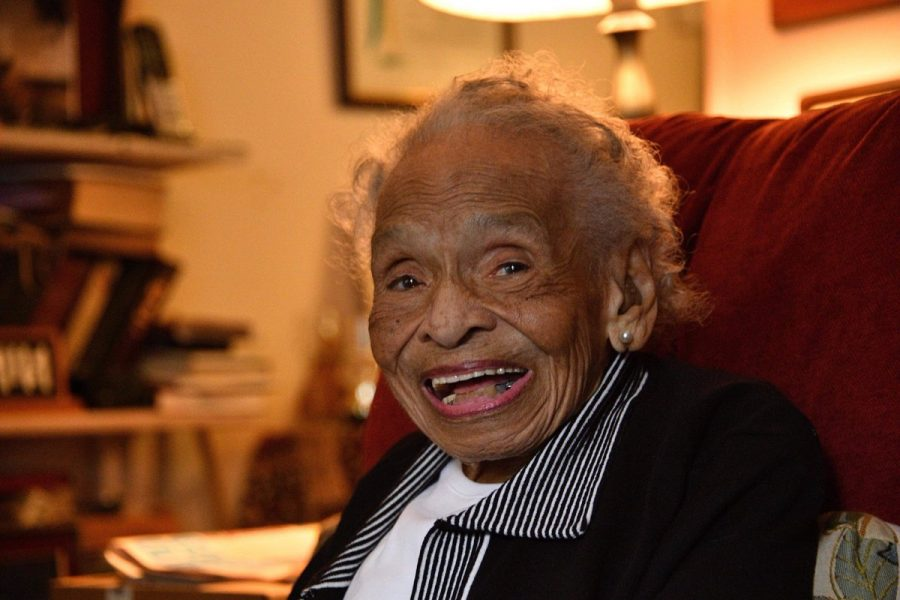 Olivia Hooker, Ph.D., was a professor at Fordham from 1963 to 1985, and one of the last survivors of the Tulsa Race Riots. (Courtesy of Karl Shultz)
