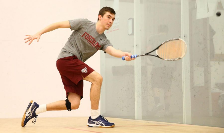 Fordham's squash team won four out of five of its first home games this weekend. (Courtesy of Fordham Athletics)