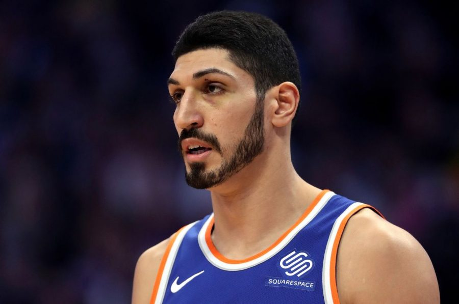Enes Kanter skips a London game after an arrest warrant was issued by Turkish president Recep Tayyip Erdogan. (Courtesy of Getty Images)