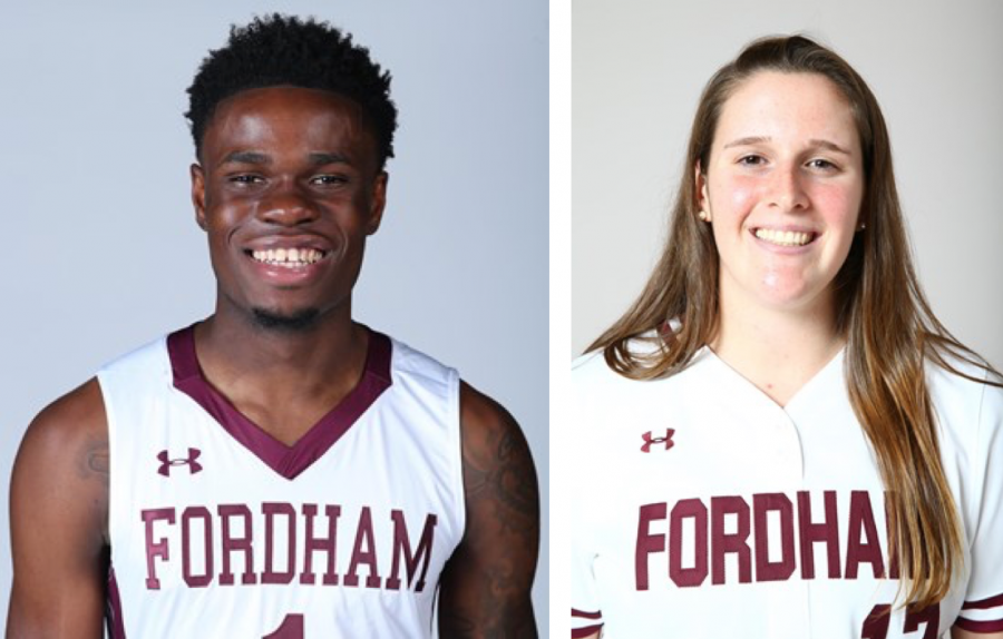 Fordham's Athletes of the Week from February 13 to February 19 (Courtesy of Fordham Athletics)