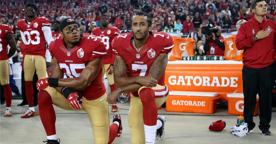 Colin Kaepernick, pictured above, may never play in the NFL again. (Courtesy of Flickr)