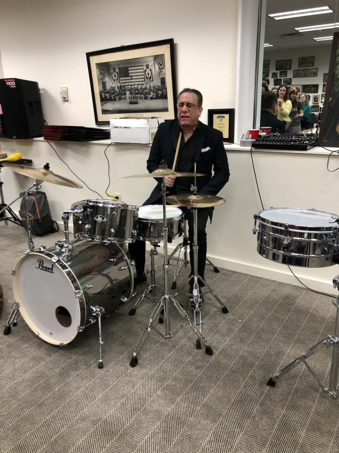Bobby Sanabria performed  a latin-jazz concert for Fordham students. (Rachel Gow/The Fordham Ram)
