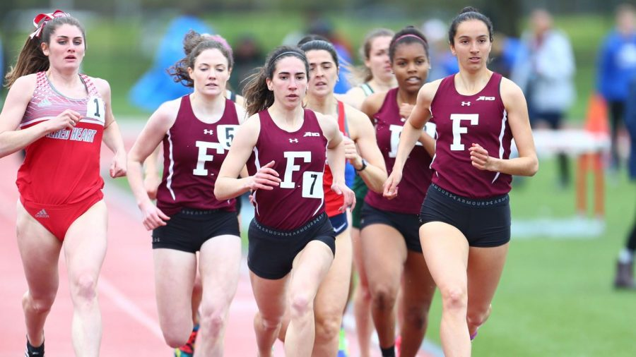 Fordham Track competed on Long Island and in New Jersey this past weekend. (Courtesy of Fordham Athletics)