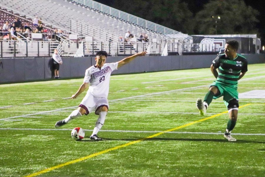 Fordham Mens Soccer lost the latest round in the Battle of the Bronx. (Mackenzie Cranna/The Fordham Ram)