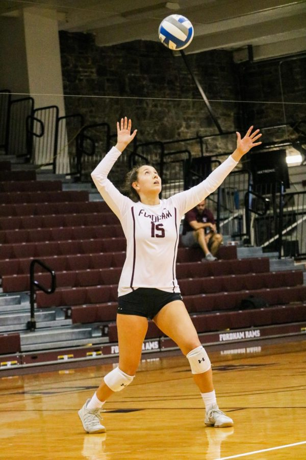 Fordham Volleyball is off to a great start in 2019 with several early-season wins. (Julia Comerford/The Fordham Ram)