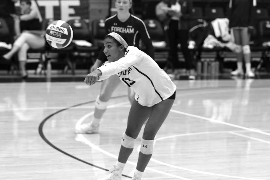 Fordham Volleyball had a tough week after two Atlantic 10 losses. (Courtesy of Fordham Athletics)