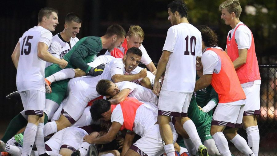 An own goal by Fordham Mens Soccer was the difference in a match that the Rams ultimately should have won. (Courtesy of Fordham Athletics)