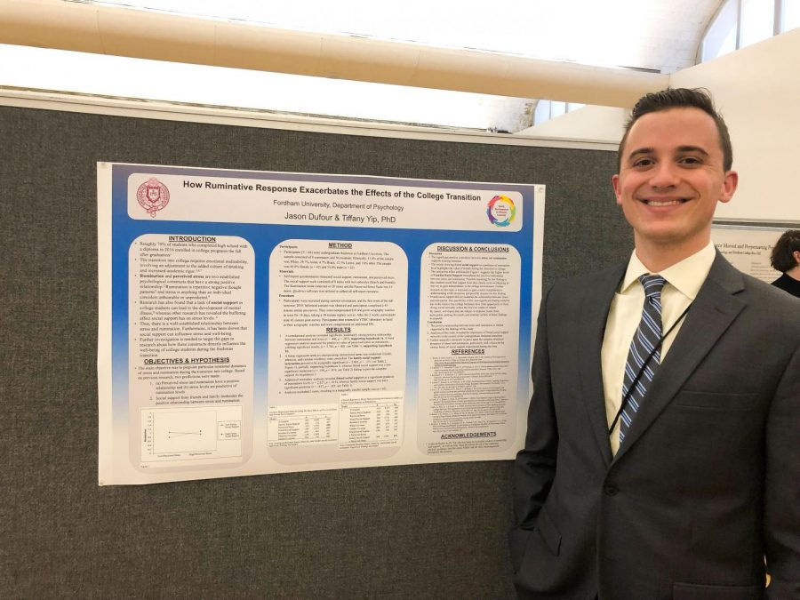 Jason Dufour presented his psychology research at last year's Undergraduate Research Symposium.