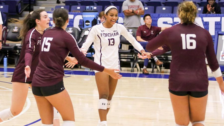 Fordham Volleyball makes its long-awaited return home on Friday night. (Courtesy of Fordham Athletics)