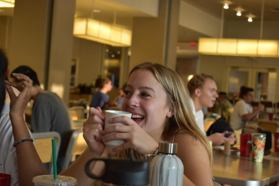 The cafeteria is a place for friends to have meals together.    (Rachel Gow/ The Fordham Ram)