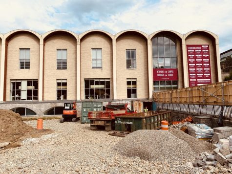 McGinley Center is undergoing major construction to be completed in 2021.  (Julia Comerford/The Fordham Ram)