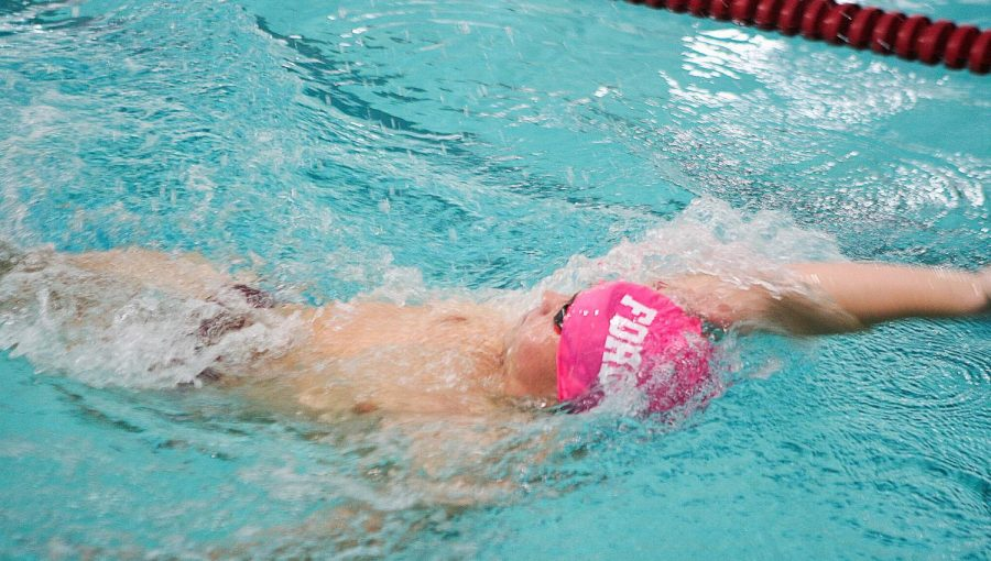 Fordham Swimming and Diving had variant outcomes to open the season. (Alex Wolz/The Fordham Ram)