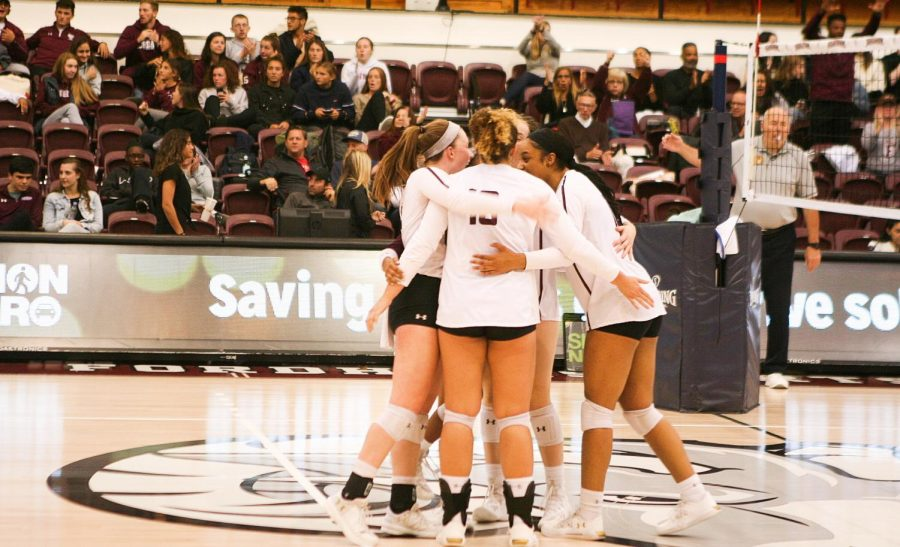 Fordham Volleyball is on the board with a win over URI in conference play. (Alex Wolz/The Fordham Ram)