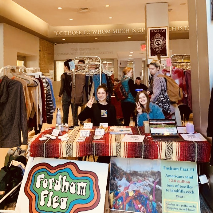 Fordham Flea is usually one of the biggest events at the university for Earth Week. With classes moving online, sustainability groups had to make alterations.