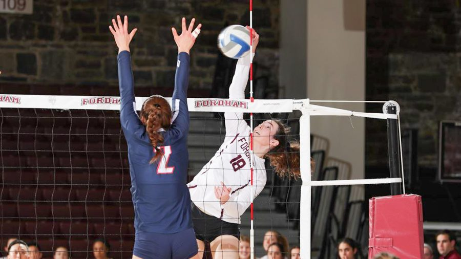 Fordham Volleyball showed promise this week, but the season is almost over. (Courtesy of Fordham Athletics)