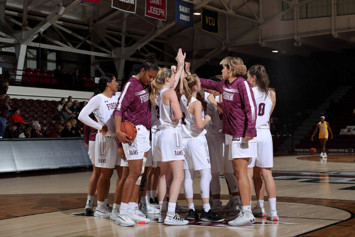 Fordham Women's Basketball could not fend off the Quinnipiac comeback. (Courtesy of Fordham Athletics)