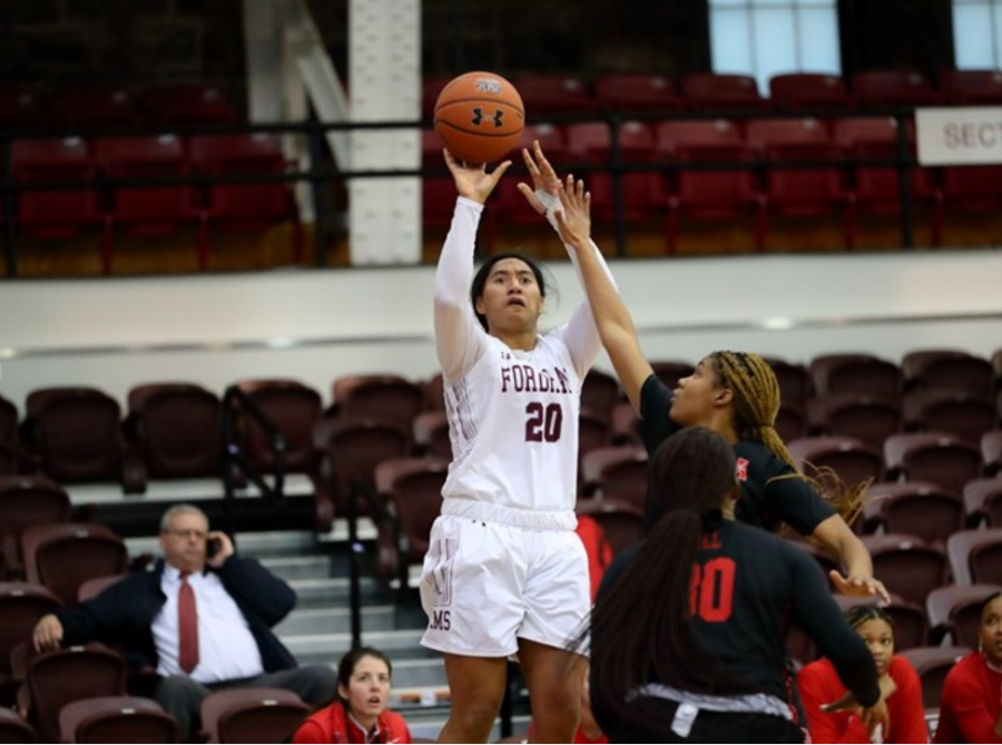 Kendell Heremaia (above) led the way for Fordham at the Holiday Classic. (Courtesy of Fordham Athletics)