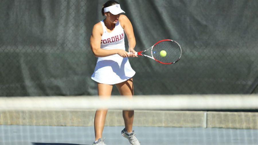 Women's Tennis overcame some early season struggles against Quinnipiac. (Gigi Speer)