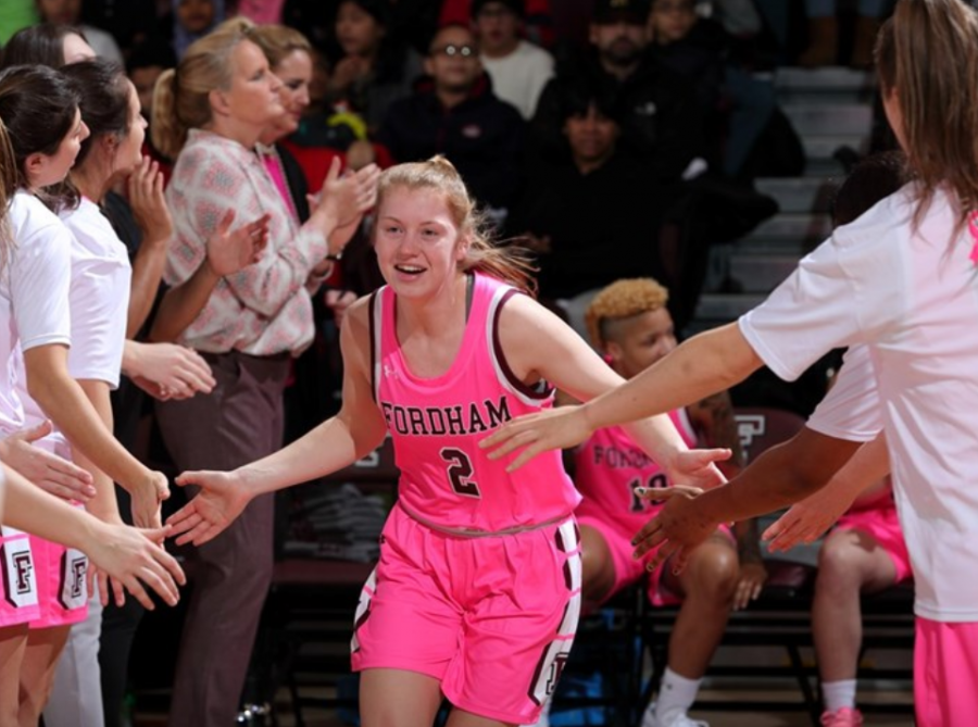 Anna DeWolfe (above) tied a career-high with 25 points in a win over Stony Brook on Wednesday. (Courtesy of Fordham Athletics)