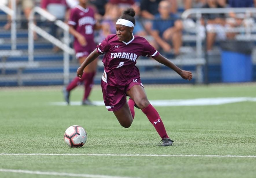 Danielle Etienne (above) has competed with the Haitian national team as just a freshman at Fordham. (Courtesy of Fordham Athletics)
