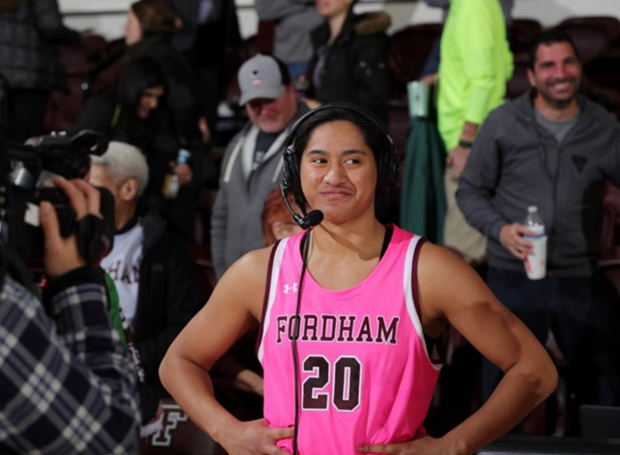 Kendell Heremaia (above) had 17 points and seven rebounds in Fordhams win over Dayton last Saturday.