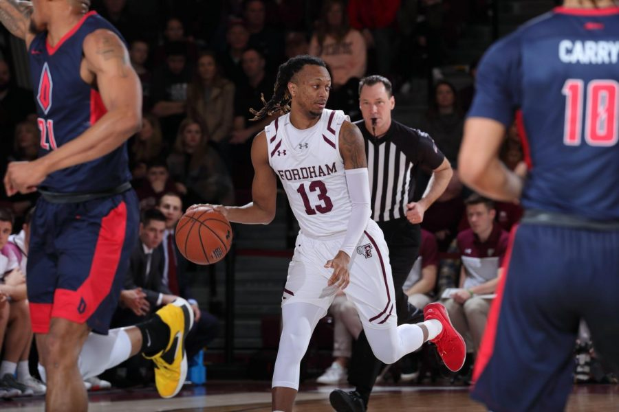 The Rams fought but ultimately lost the season series to the Dukes. (Courtesy of Fordham Athletics)