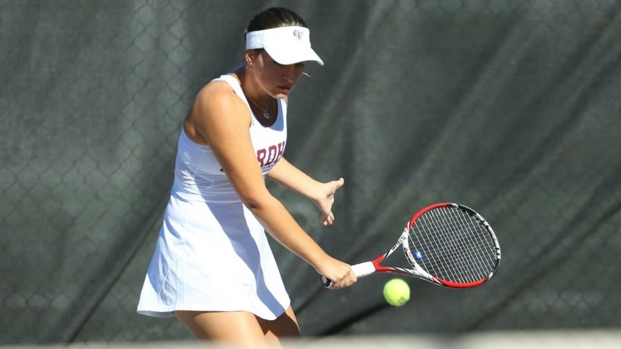 Arina Taluyenko (above) once again led the way for Fordham on Saturday. (Courtesy of Fordham Athletics)