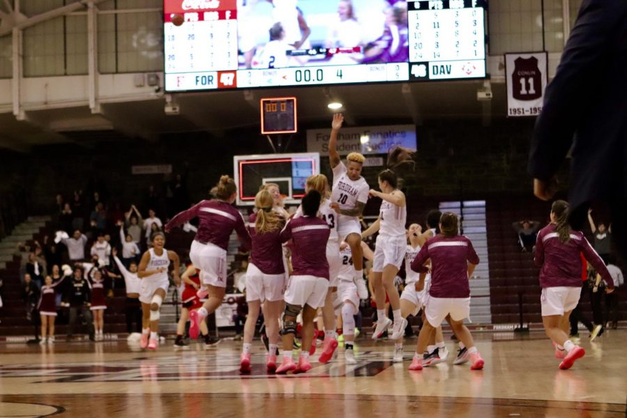 With a game-winning buzzer beater from Cavanaugh and remarkable road showing from Heremaia, it is an exciting time to be a Ram. (Mackenzie Cranna/The Fordham Ram)