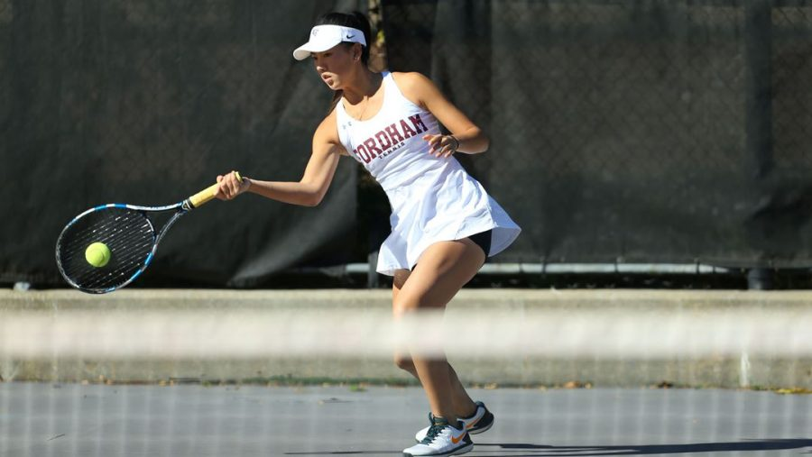 Women's Tennis had a difficult weekend, but now they're looking to right the ship. (Courtesy of Fordham Athletics)
