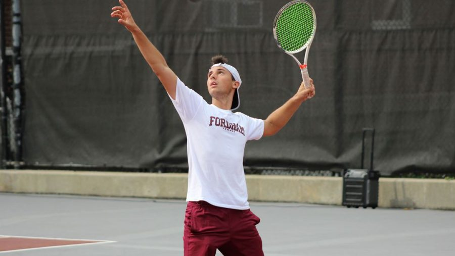 Men's Tennis has a win streak of four after their wins in the past two weekends. (Courtesy of Fordham Athletics)
