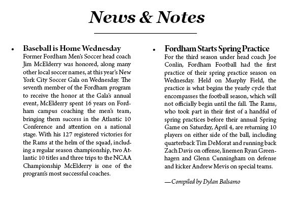 News & Notes for the 2/26-3/3 (Dylan Balsamo)