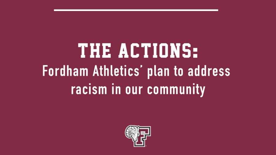 Fordham Athletics' upcoming 19-part strategic plan is committed to eradicating racism within its community. (Courtesy of Fordham Athletics)
