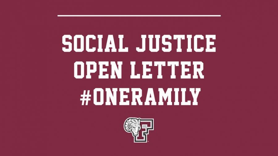 Following months of social unrest across the country, Fordham Athletics has laid out its plan aimed at promoting racial and social justice. (Courtesy of Fordham Athletics)