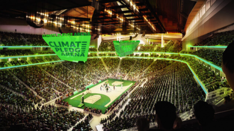 Amazon passed up the branding opportunity for the Seattle Kraken arena to advocate for climate change instead. (Courtesy of Twitter)