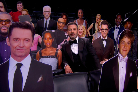The 2020 Emmys featured cardboard cutouts of actors. (Courtesy of 2020 Invision)