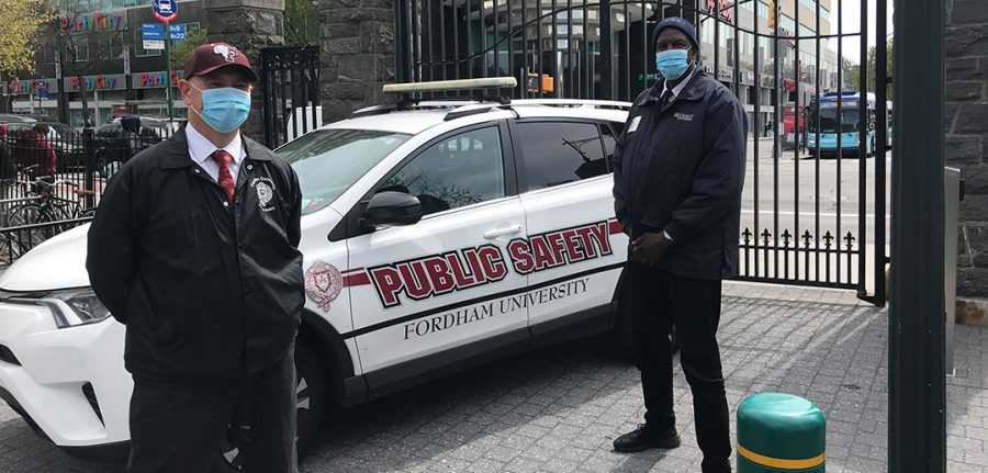 Public Safety officers now require students fill out their VitalCheck assessments in order to use their IDs to enter campus. (Courtesy of Fordham's Website)