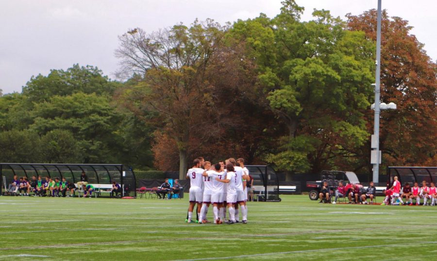 Fordham Men's Soccer (above) is staying ready for its season, even if it doesn't know when that will be. (Mackenzie Cranna/The Fordham Ram)