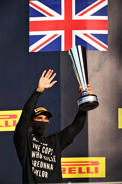 Lewis Hamilton (above) emerged victorious in the inaugural Tuscan Grand Prix. (Courtesy of Twitter)