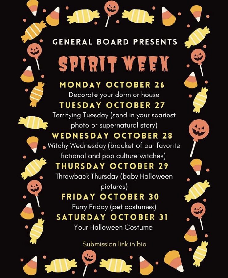 The CAB General Board is hosting a Halloween spirit week where participants can submit images of the day's theme. (Courtesy of Instagram)