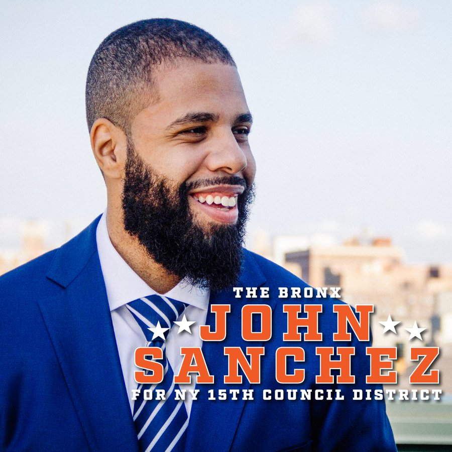 John Sanchez, district manager of Bronx Community Board 6, is working towards strengthening Fordham's relationship to the Bronx community. (Courtesy of Twitter)