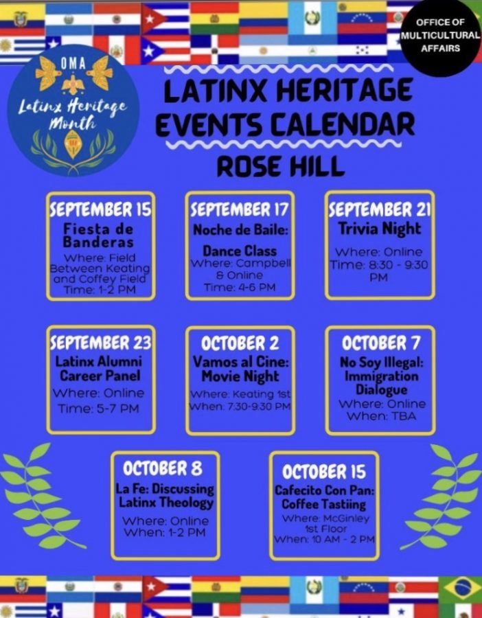 Latinx heritage month runs from Sept. 15 to Oct. 15. (Courtesy of Fordham Latinx Heritage Instagram)