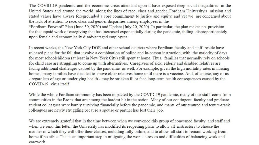 Faced with teaching during the COVID-19 pandemic, Fordham faculty presented the administration with a series of demands. (Mackenzie Cranna/ The Fordham Ram