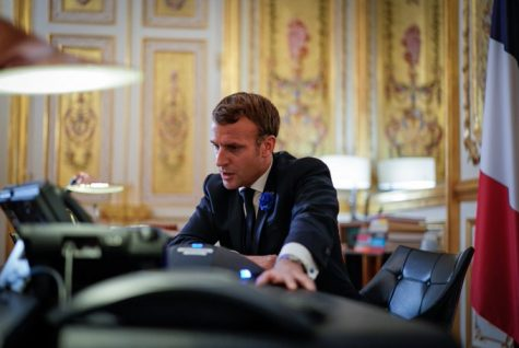The French president is receiving criticism for refusing the requests of Muslims in France (Courtesy of Twitter).