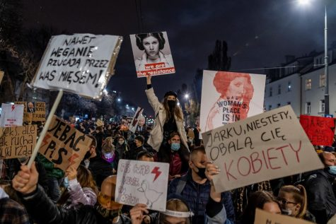 The protests in Poland bear a strong resemblance to abortion issues in the U.S. (Courtesy of Twitter).
