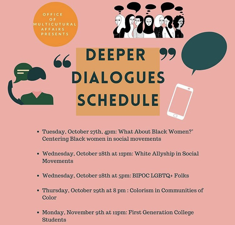 The first and only session of OMA's Deeper Dialogues series included topics relating to racial justice, allyship and identity (Photo Courtesy of Instagram).