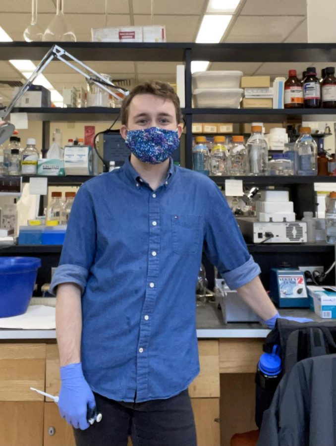 Max Luf, FCRH '22, originally started his research remotely over the summer due to restrictions caused by COVID-19 (Photo Courtesy of Max Luf).
